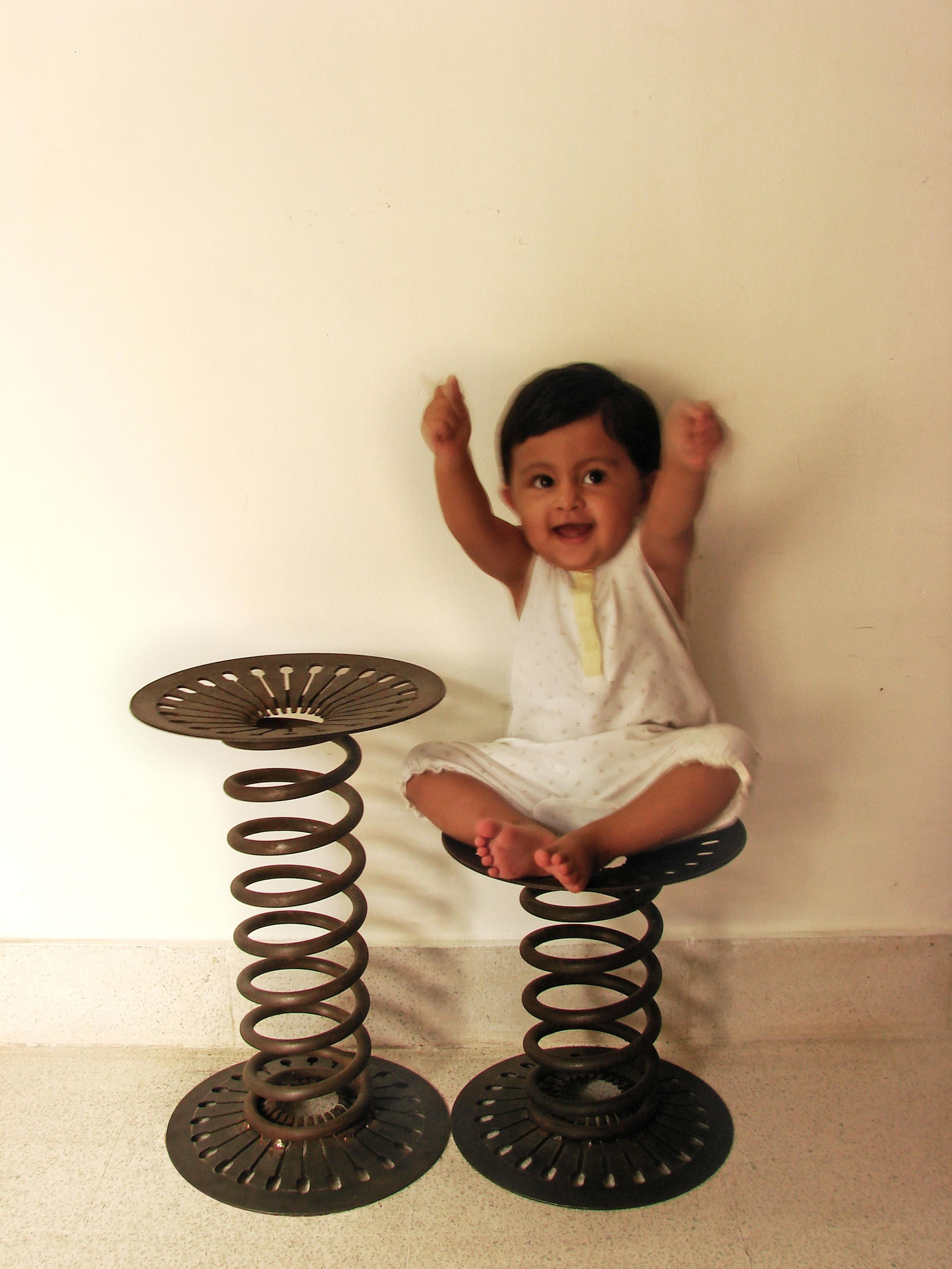 SUSPENSION & CLUTCH PLATE STOOL - Re-purposing the scrap automotive parts.JPG