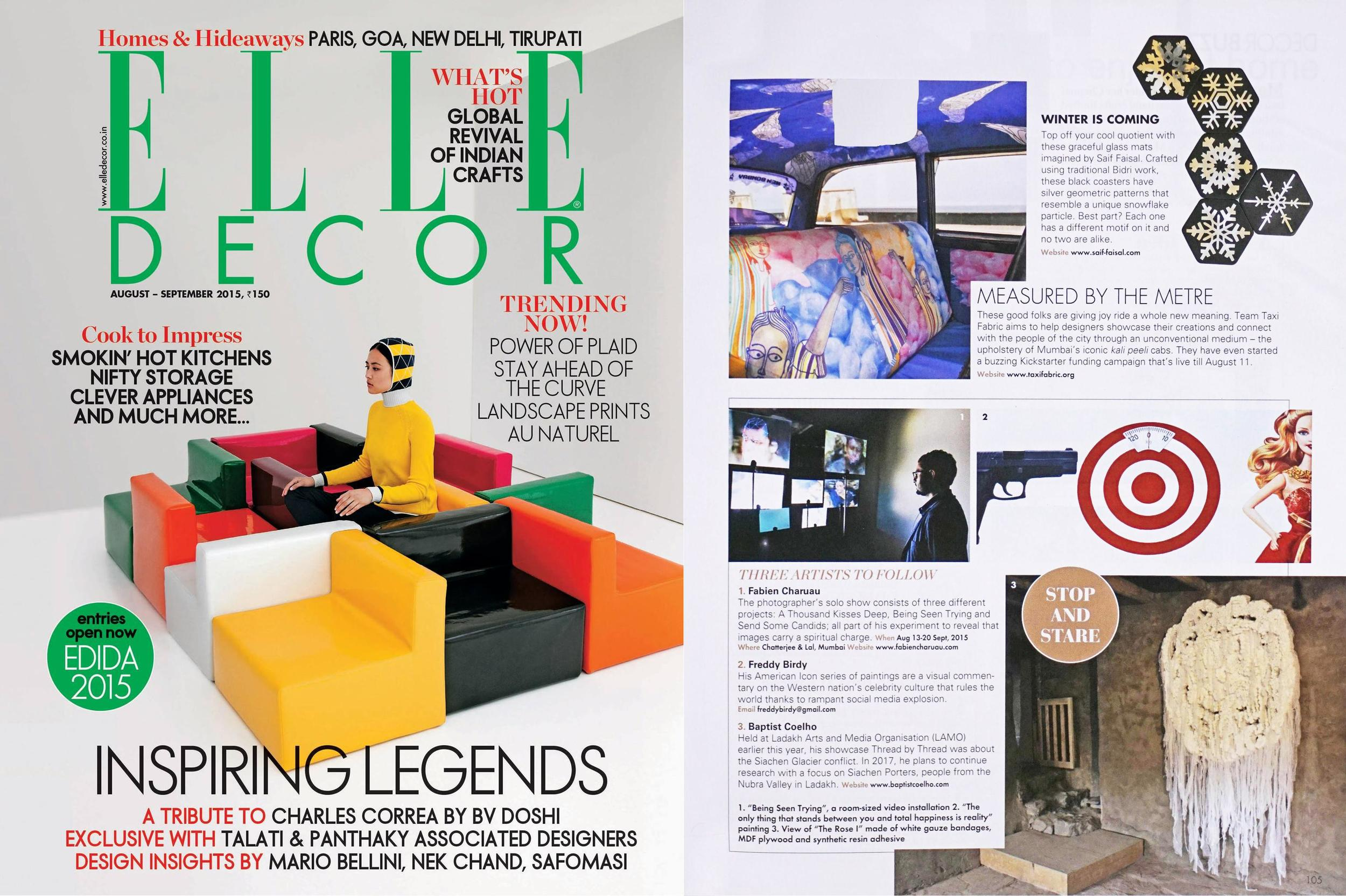 ELLE DECOR August-September 2015