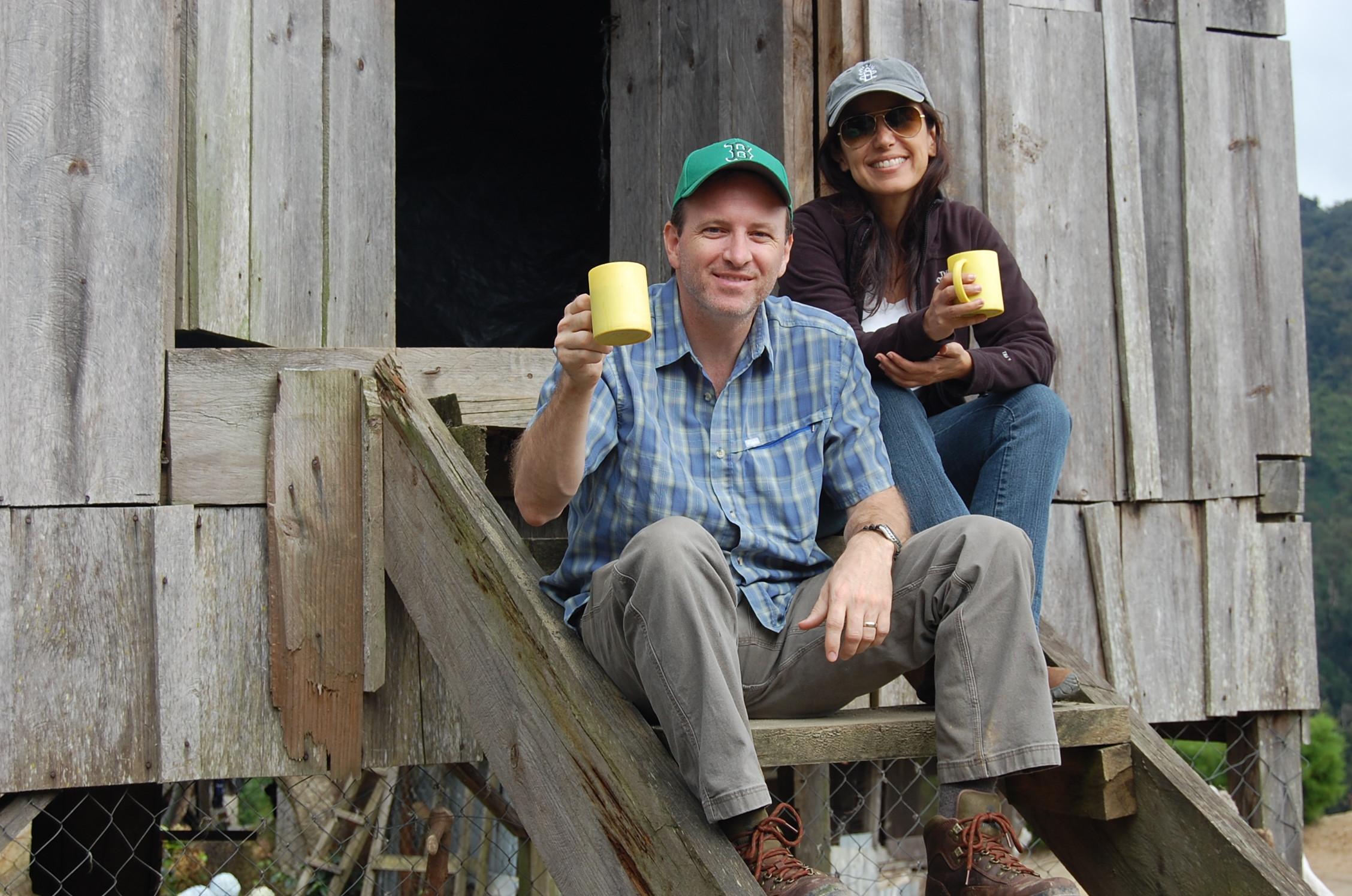 Jim and Rina at Finca Los Congos