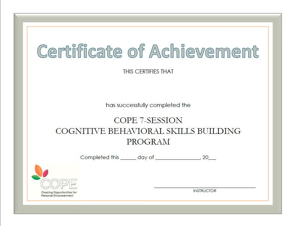 COPE 7-Session Manual-based Program