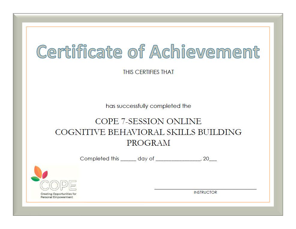 COPE 7-Session Teen Online Program