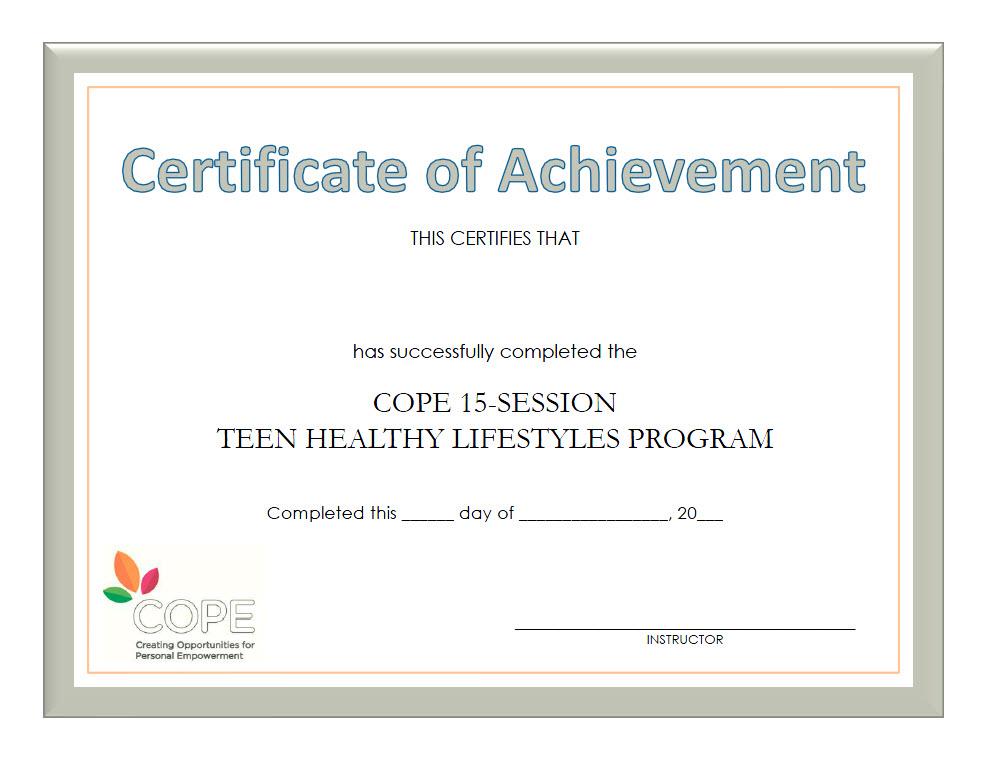 COPE 15-Session Manual-based Program