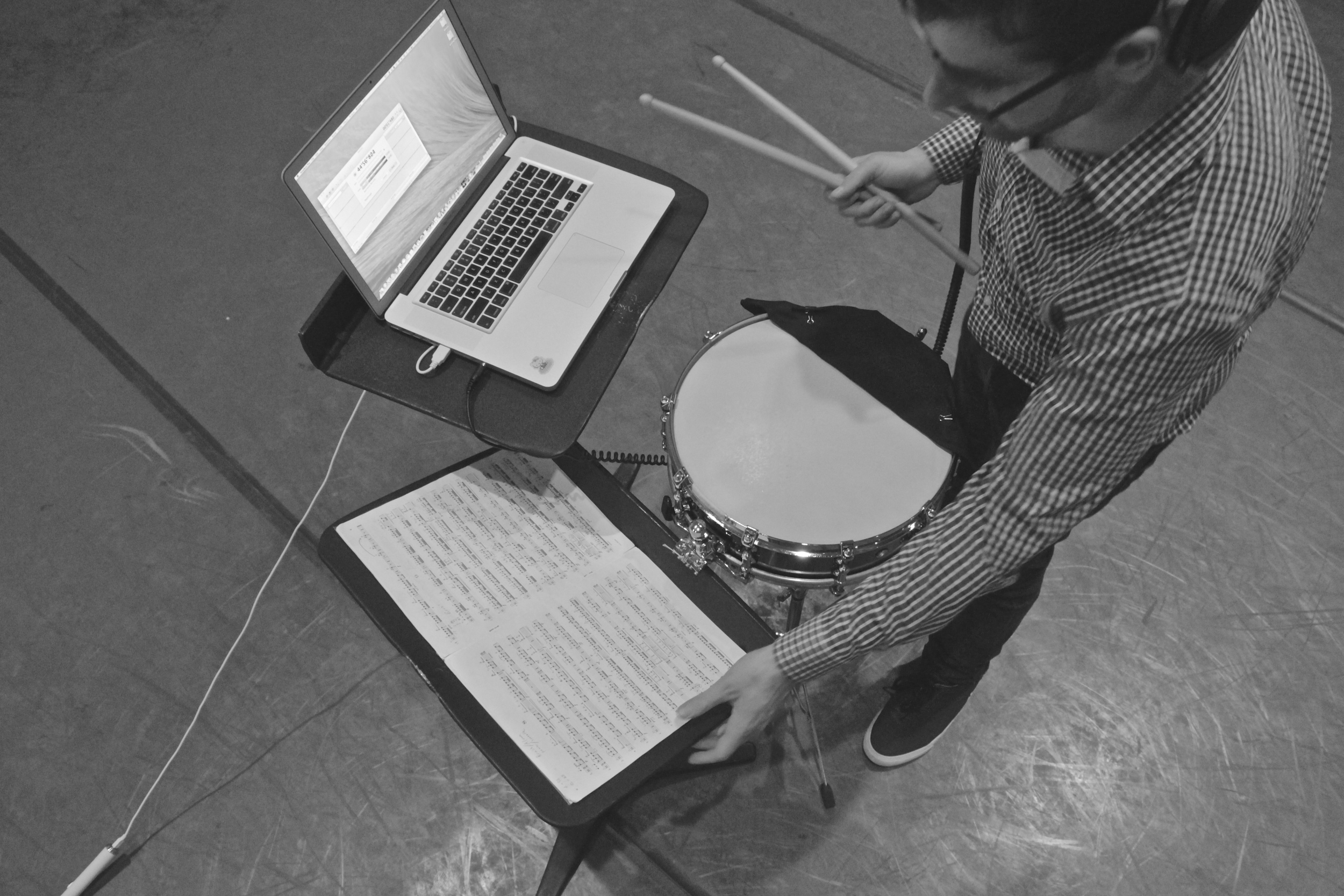 the self-recording setup