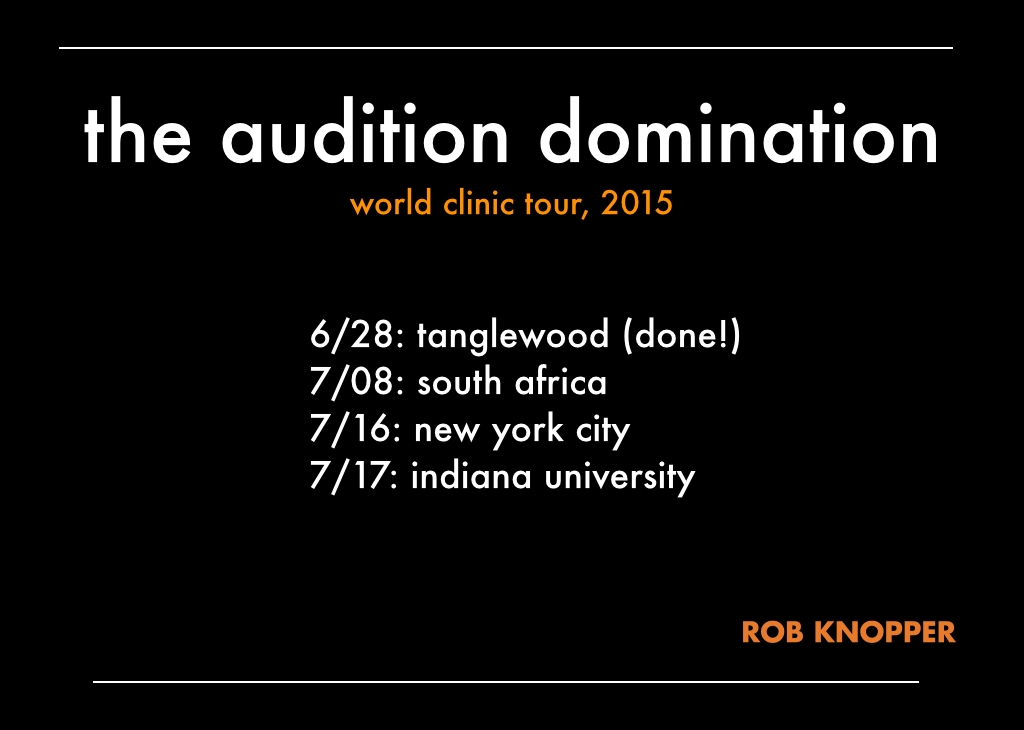 Audition Domination Clinic