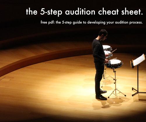 Audition cheat sheet