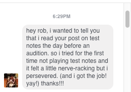 we get messages like this (see image) all the time!