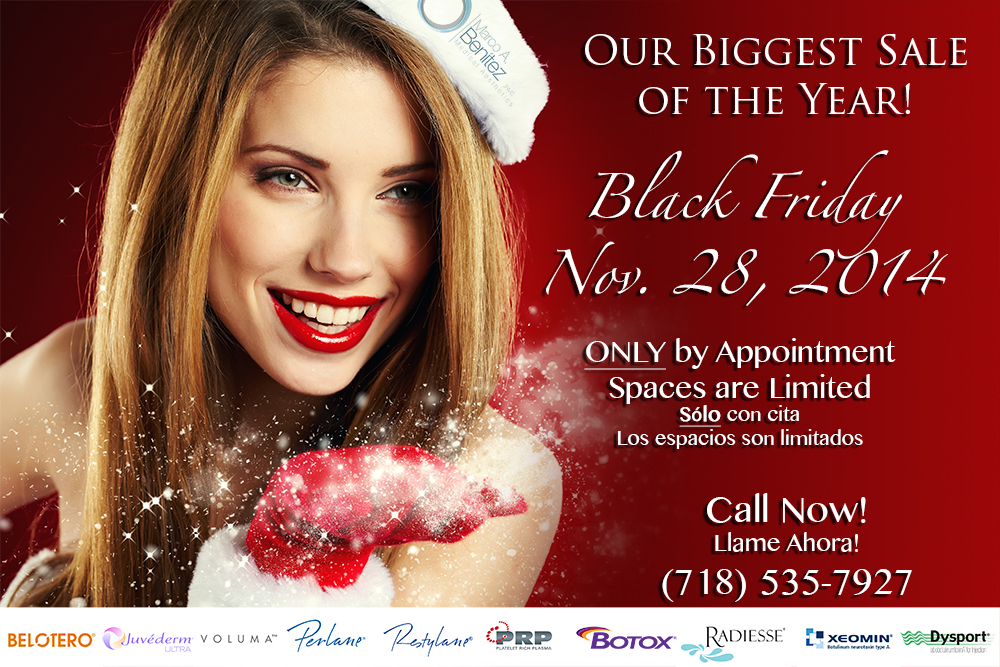 Botox Black Friday Sale Dermal Filler Black Friday Sale Plasma PRP Black Friday Sale