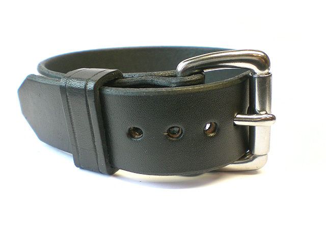 standard buckle w/black leather keeper