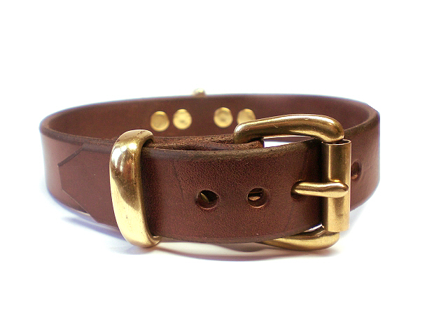 solid brass keeper - brown bridle