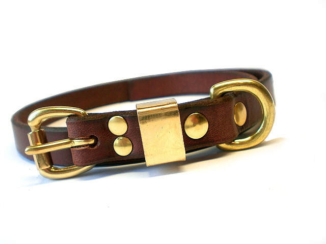 brown bridle - solid brass keper