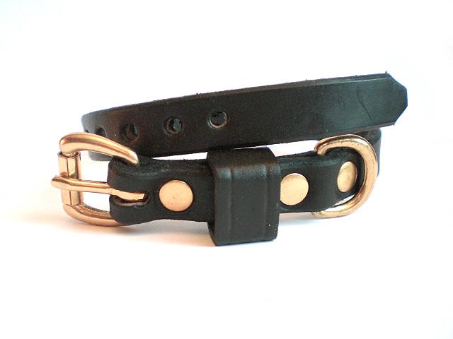 black bridle - leather keeper