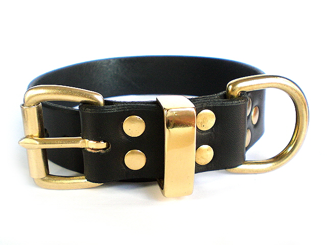 black bridle - solid brass keepers