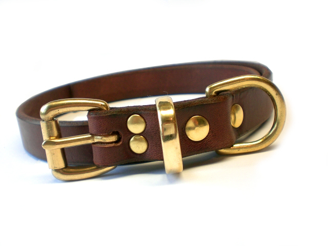 brown bridle - solid brass keeper