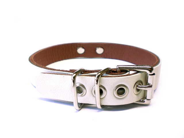 ivory white w/brown inlay - standard buckle