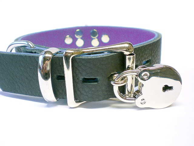 soft black w/purple inlay - lockable buckle