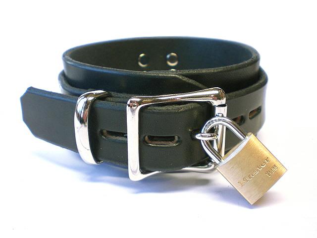 lockable roller buckle - black latigo