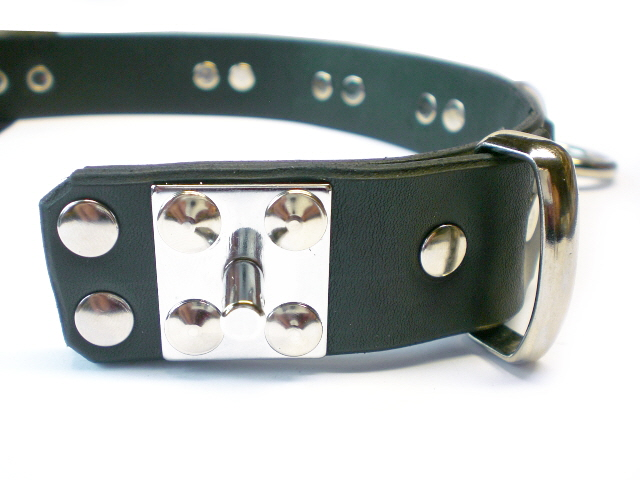 padlock stud (shown in plain black leather)