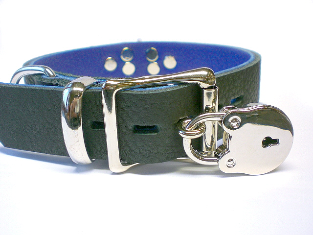 soft black w/blue inlay - lockable buckle w/padlock