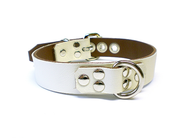 ivory white w/brown inlay