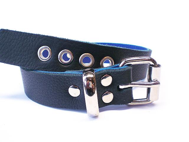 soft black w/blue inlay - standard buckle