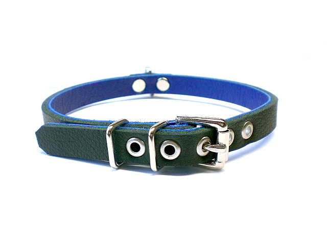 standard buckle - soft black w/blue inlay
