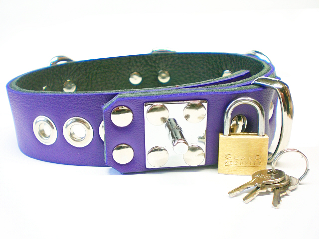 padlock stud w/padlock - electric purple