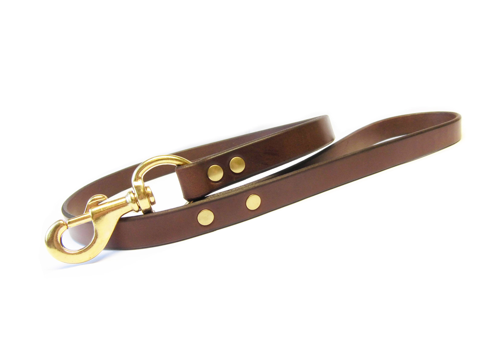 brown bridle leather w/solid brass hardware