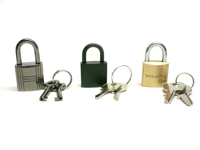 padlock choice from left to right- Gunmetal, Black, Master (solid Brass) also available now is Gunmetal Heart
