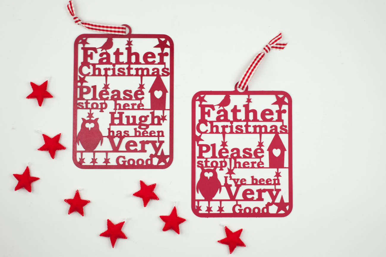 Childrens  Father Christmas door sign