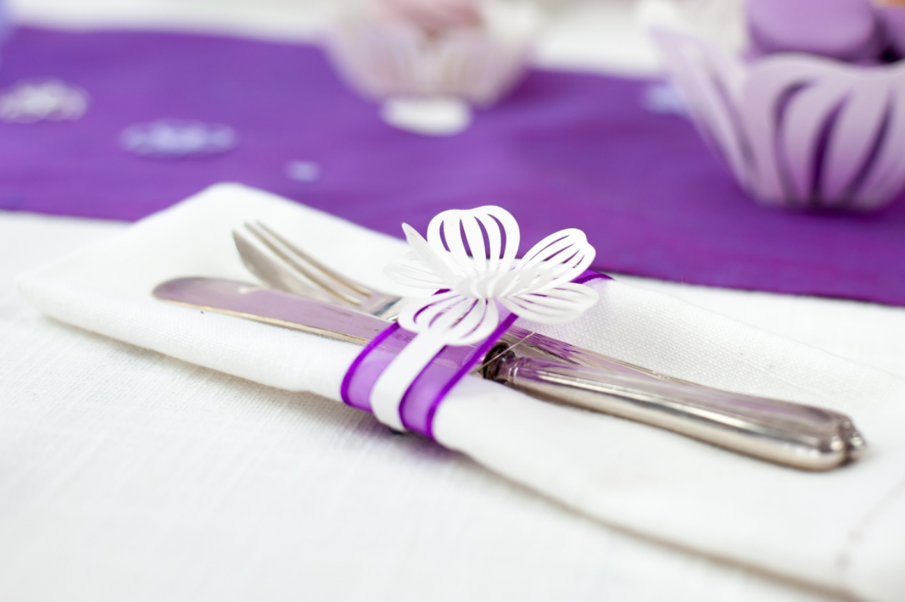 A great way to add a personal touch to your table setting