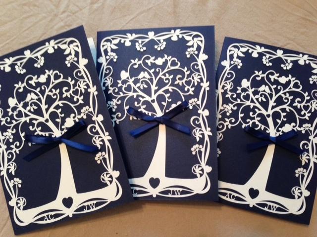 Tree of hearts wedding invitation