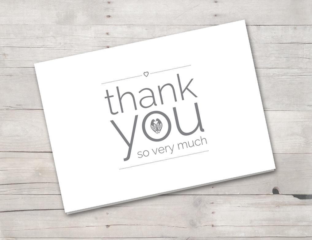 Thank you card grey