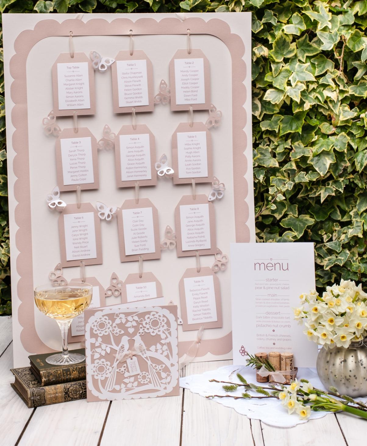 Butterflies table plan