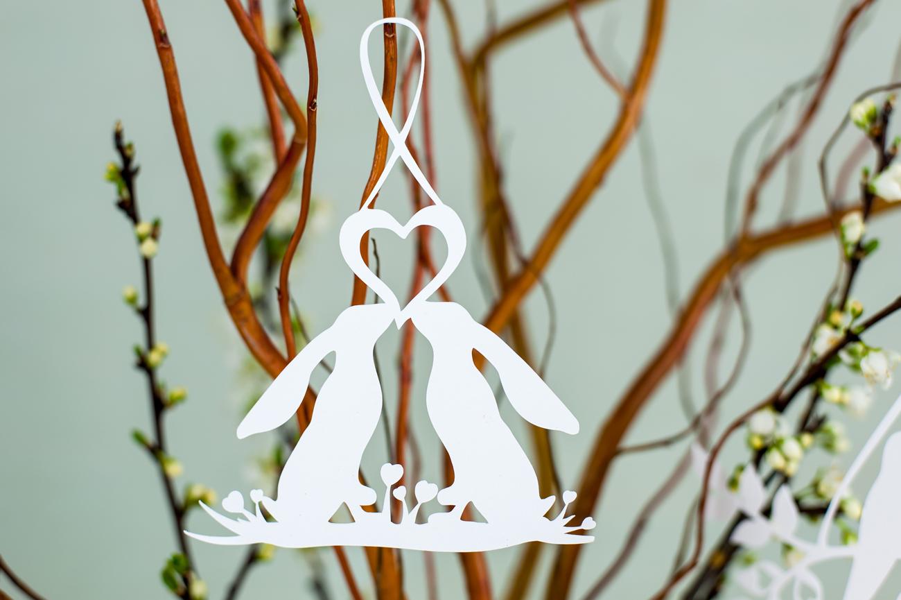 Rabbits hanging decoration