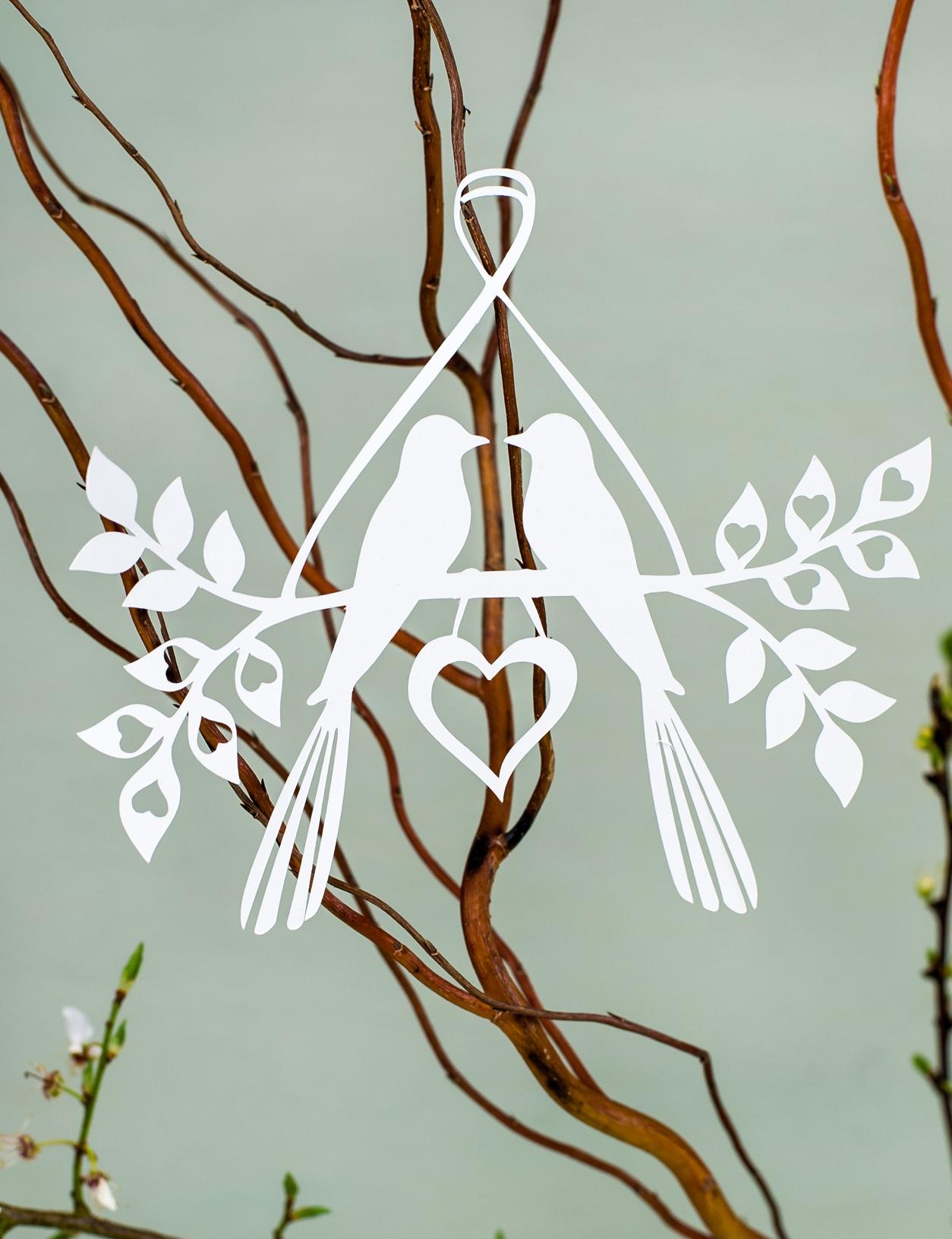 Love birds hanging decoration
