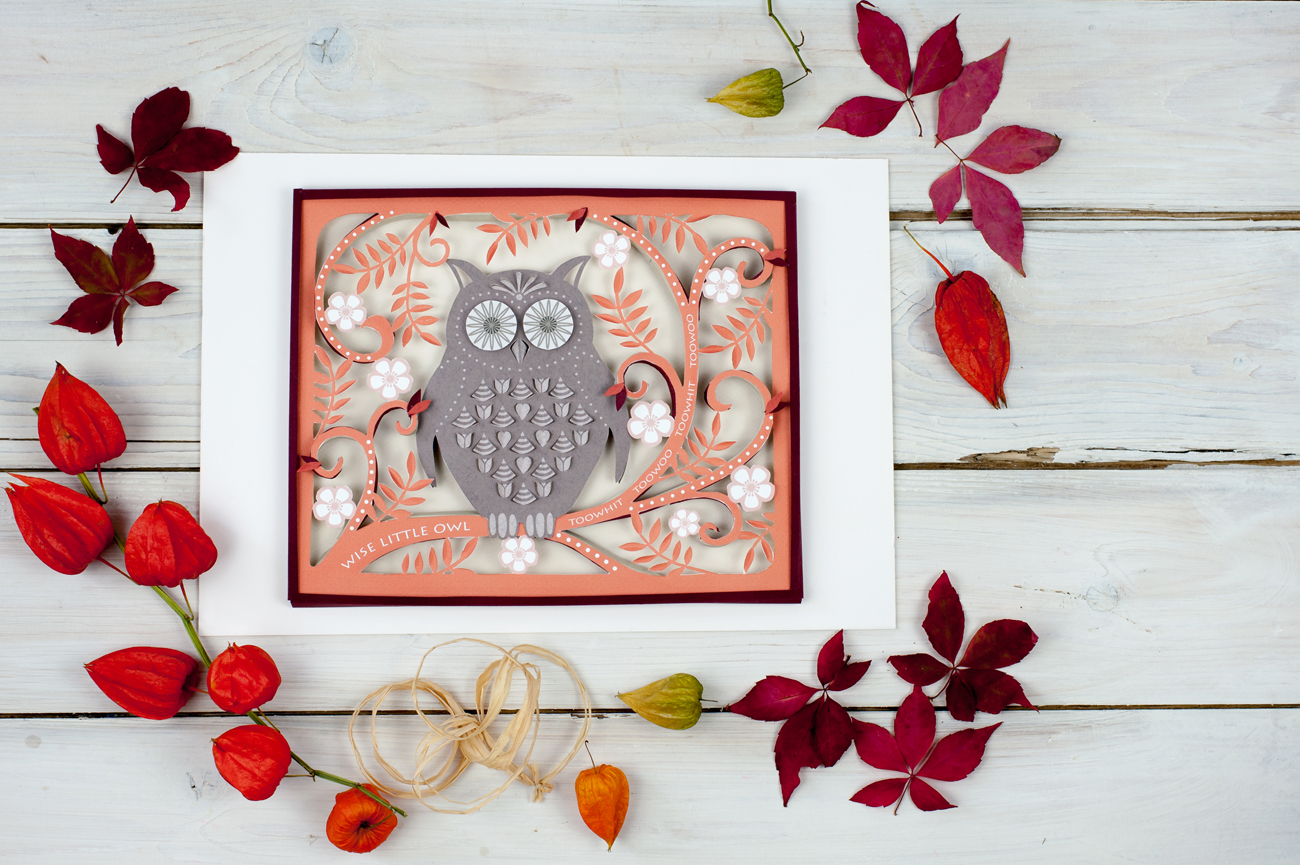 Paper cut owl wall art