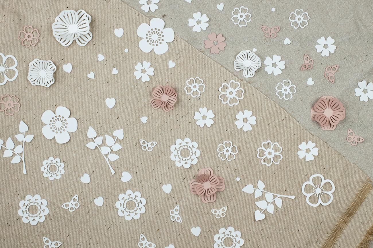 Flower table confetti