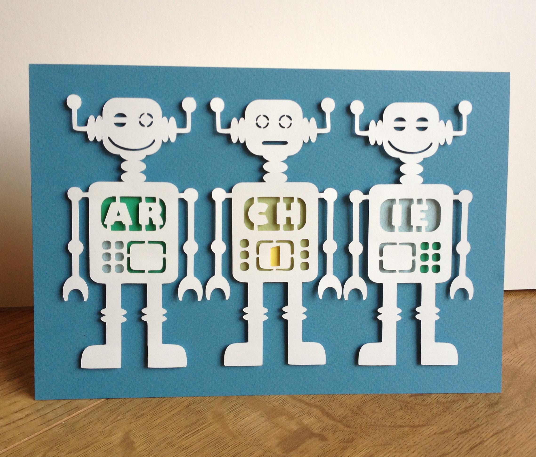 Vintage Robot Name Wall Art