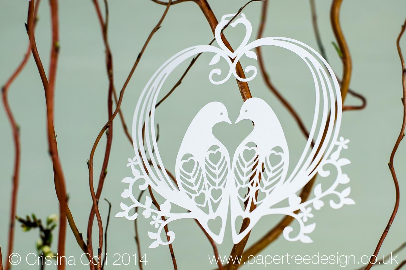 Bird cage hanging decoration