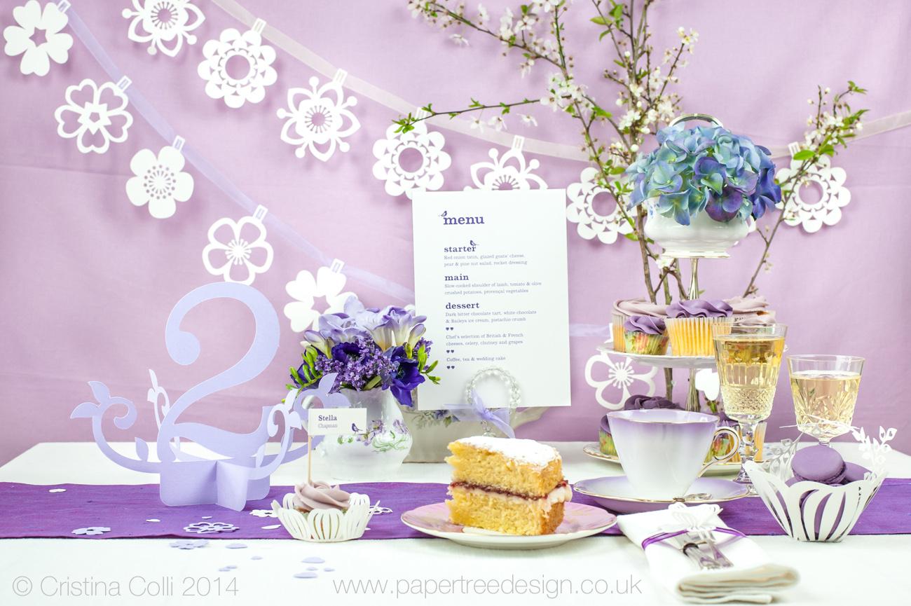 Modern vintage wedding tea party
