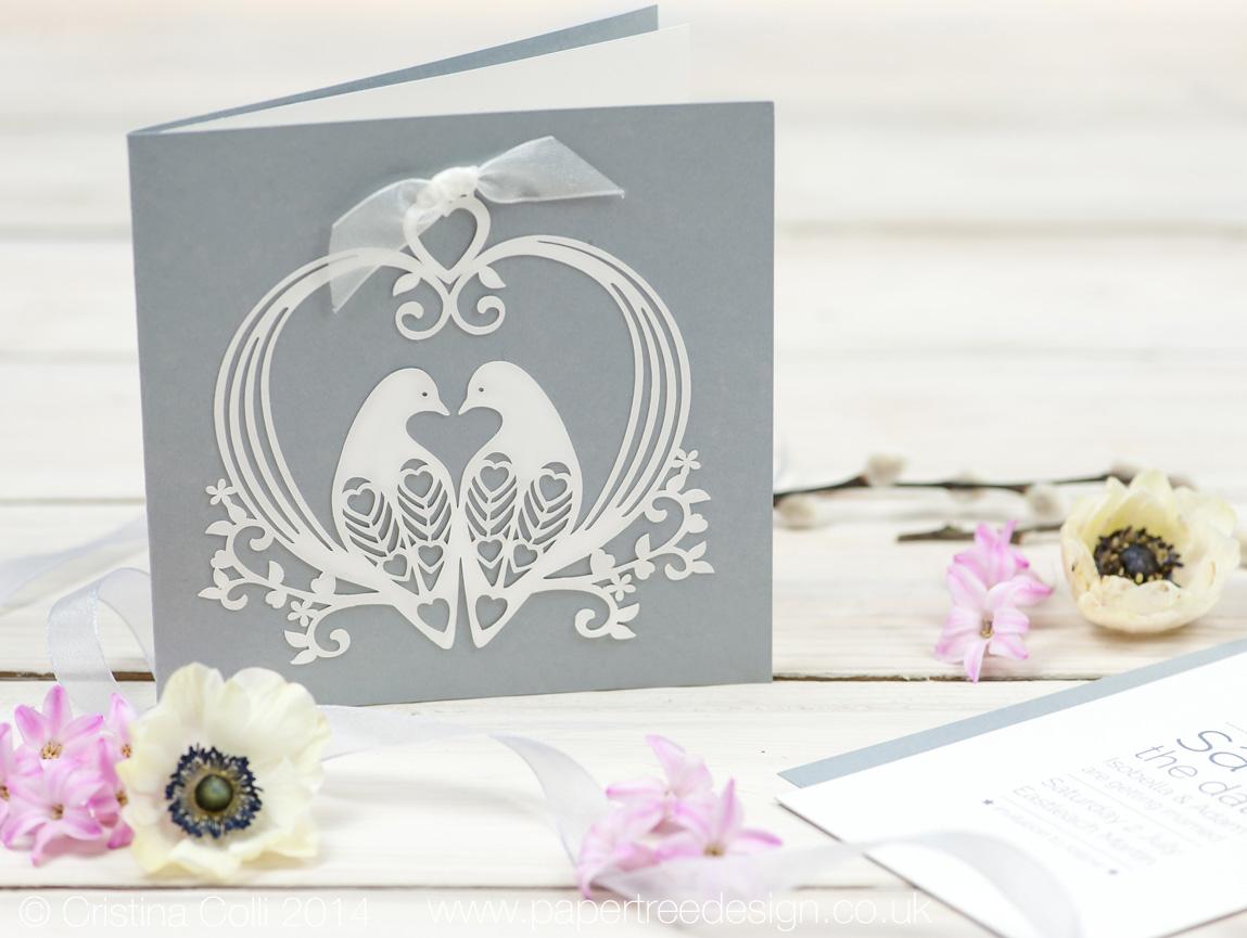 Lovely Doves Wedding Invitation