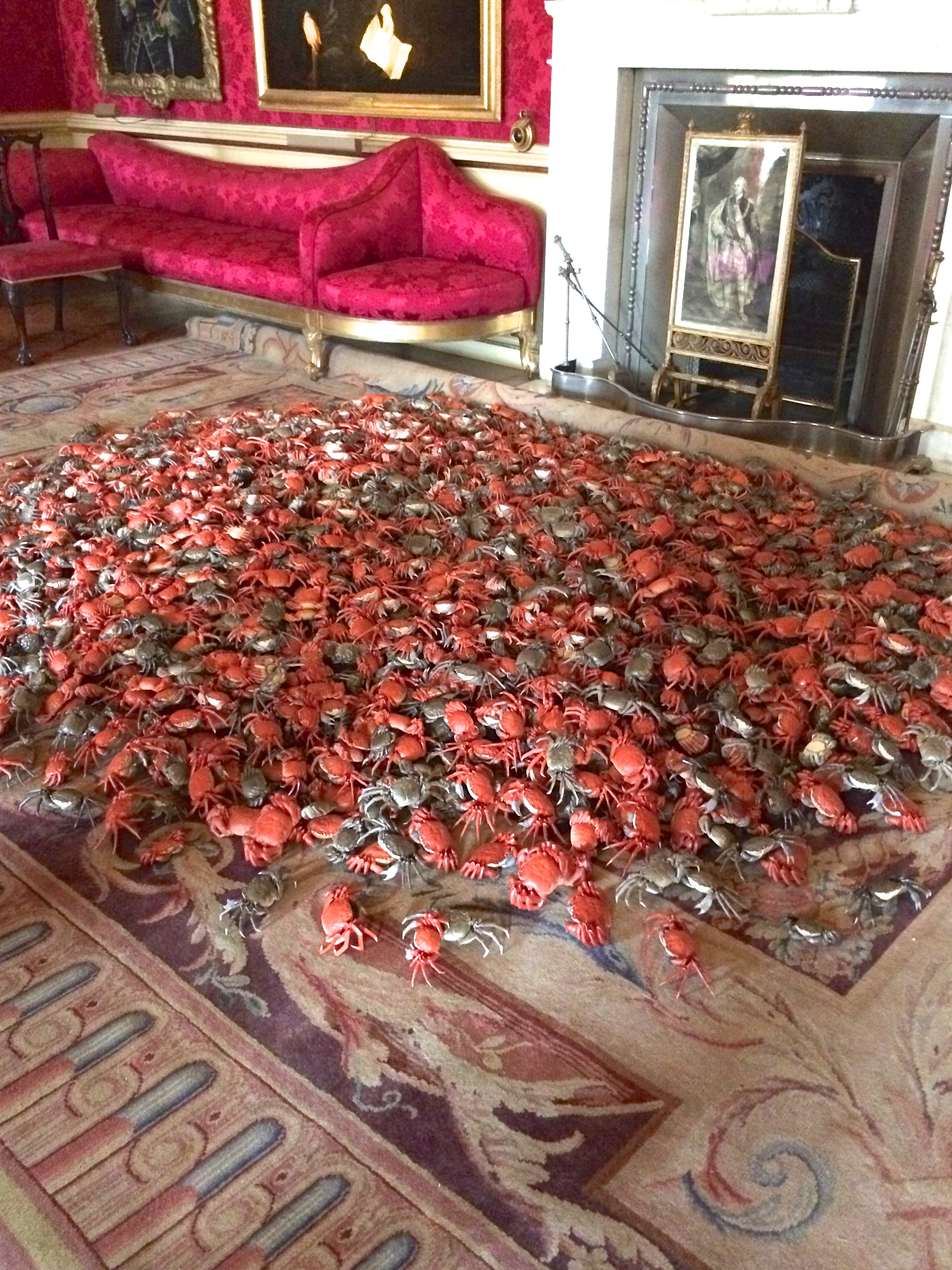 I Weiwei crabs at Blenhiem Palace