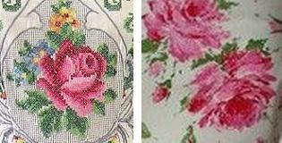 Original vintage 1950s rose textiles