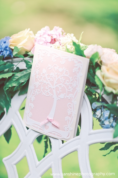 Tree of Hearts pink invitation