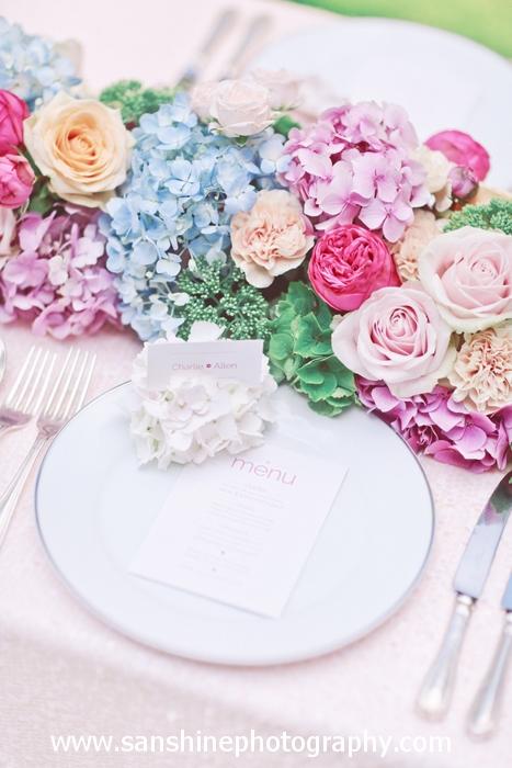 Pretty pink menu