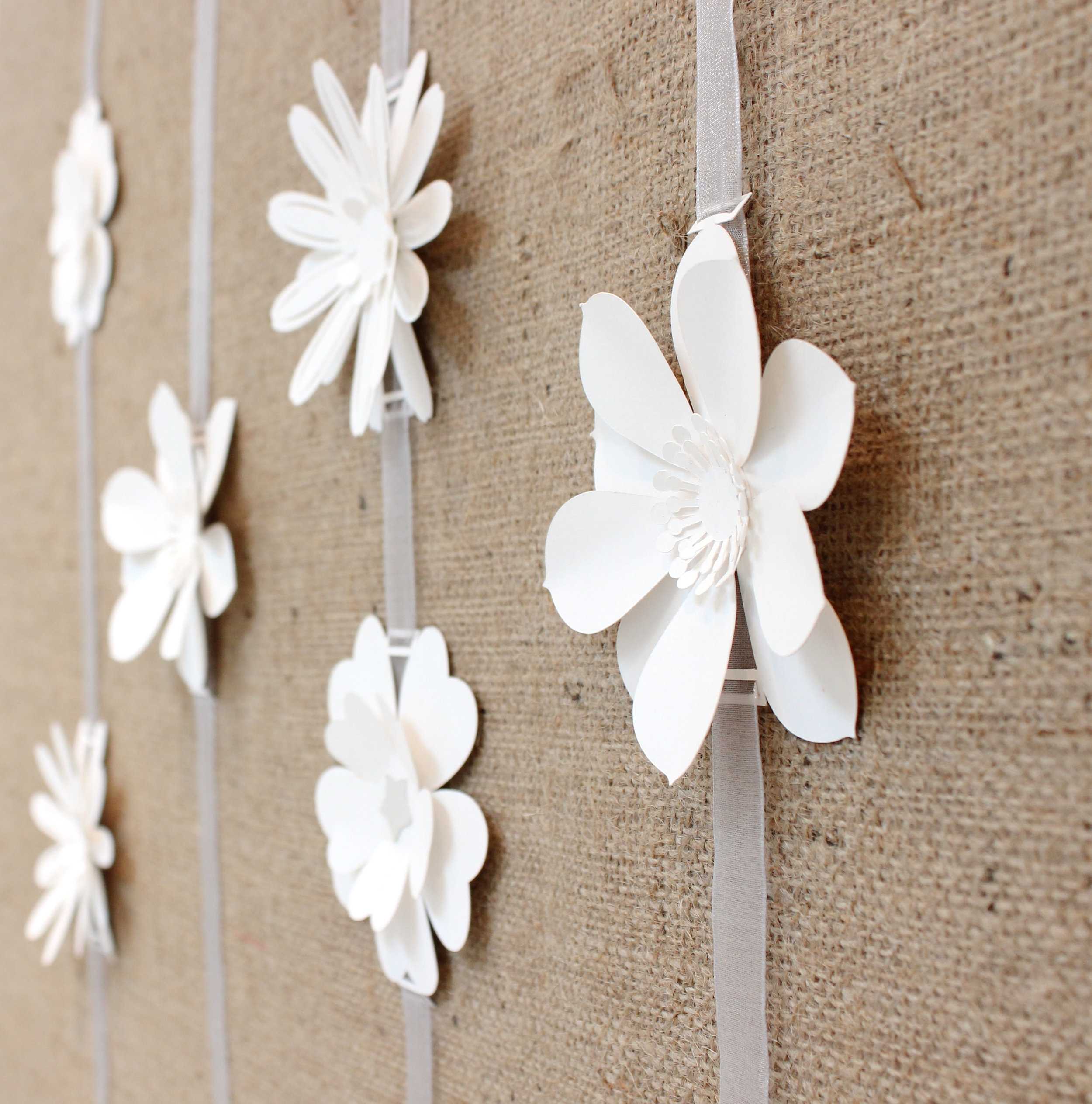 3D  paper flower garlands