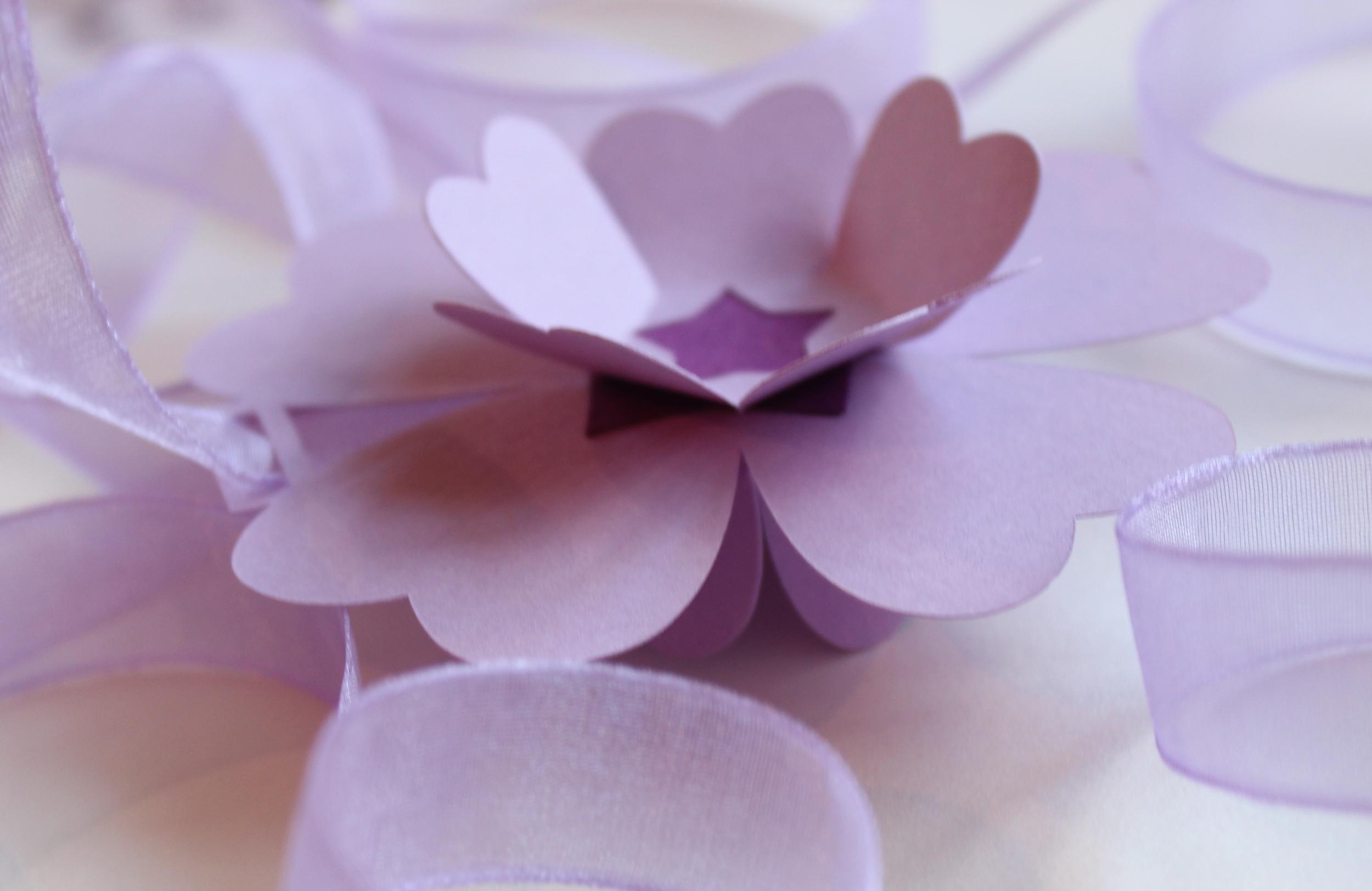 Lilac paper flower garland