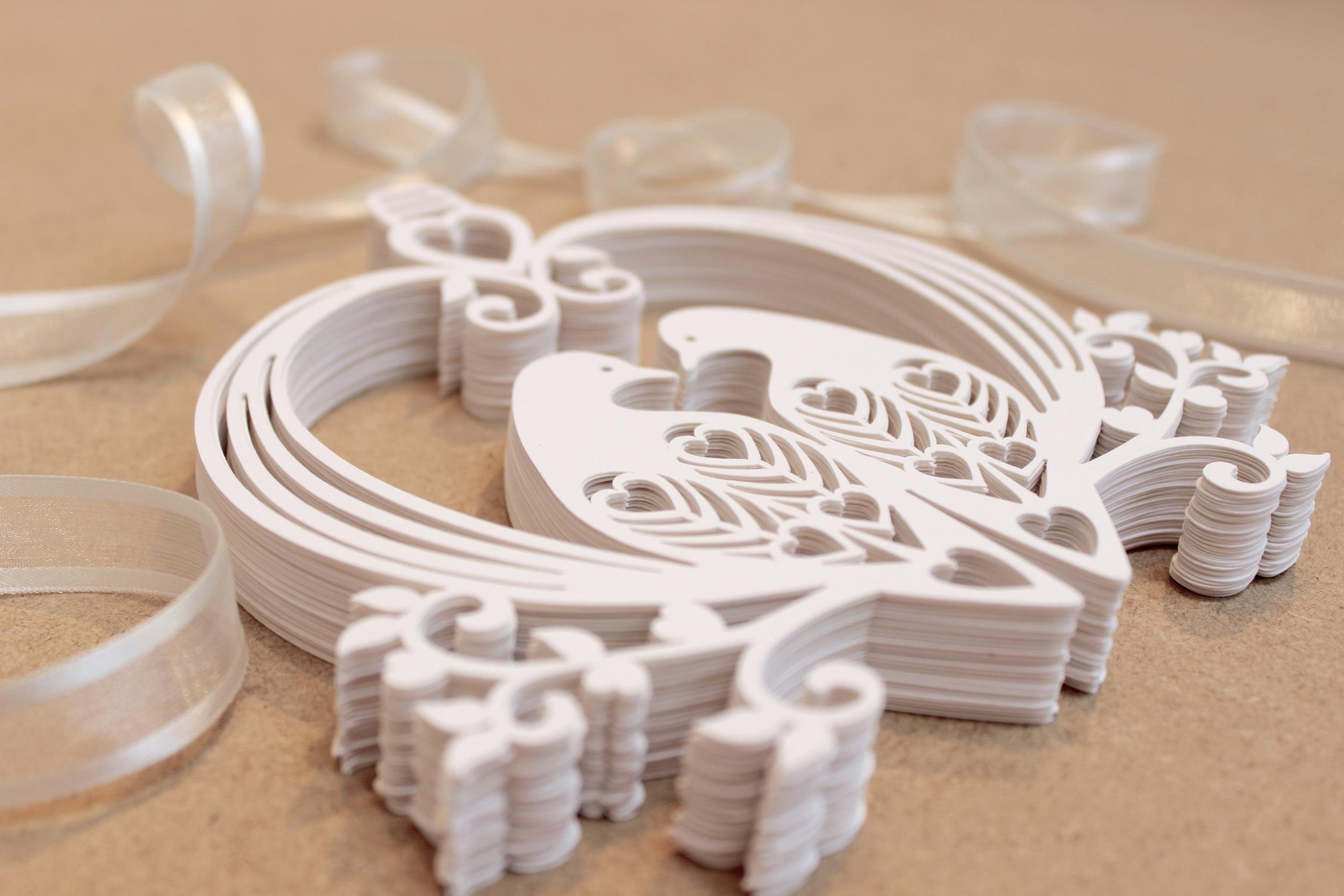 Lovely doves paper  wedding decoration