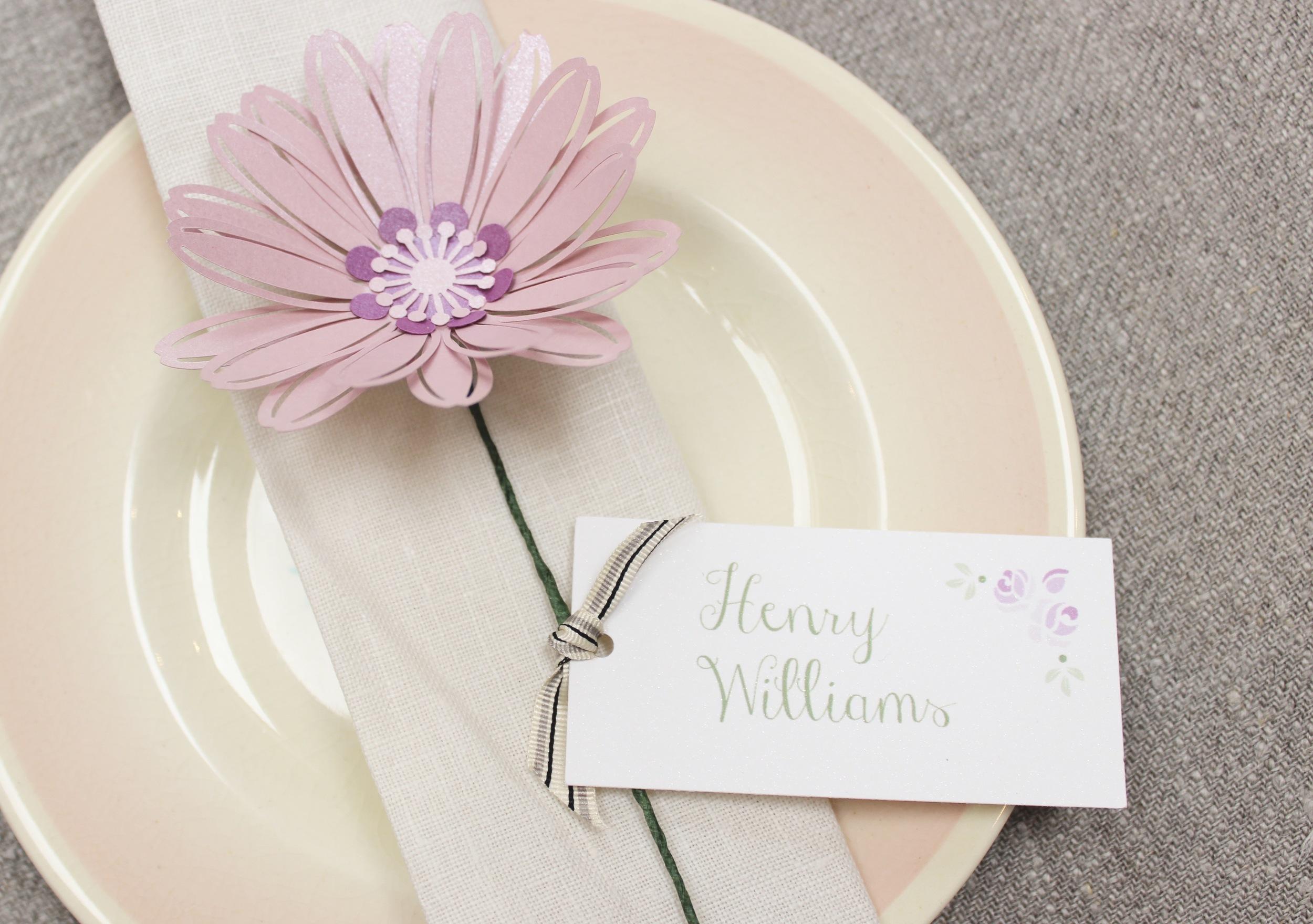 Paper flower stem daisy