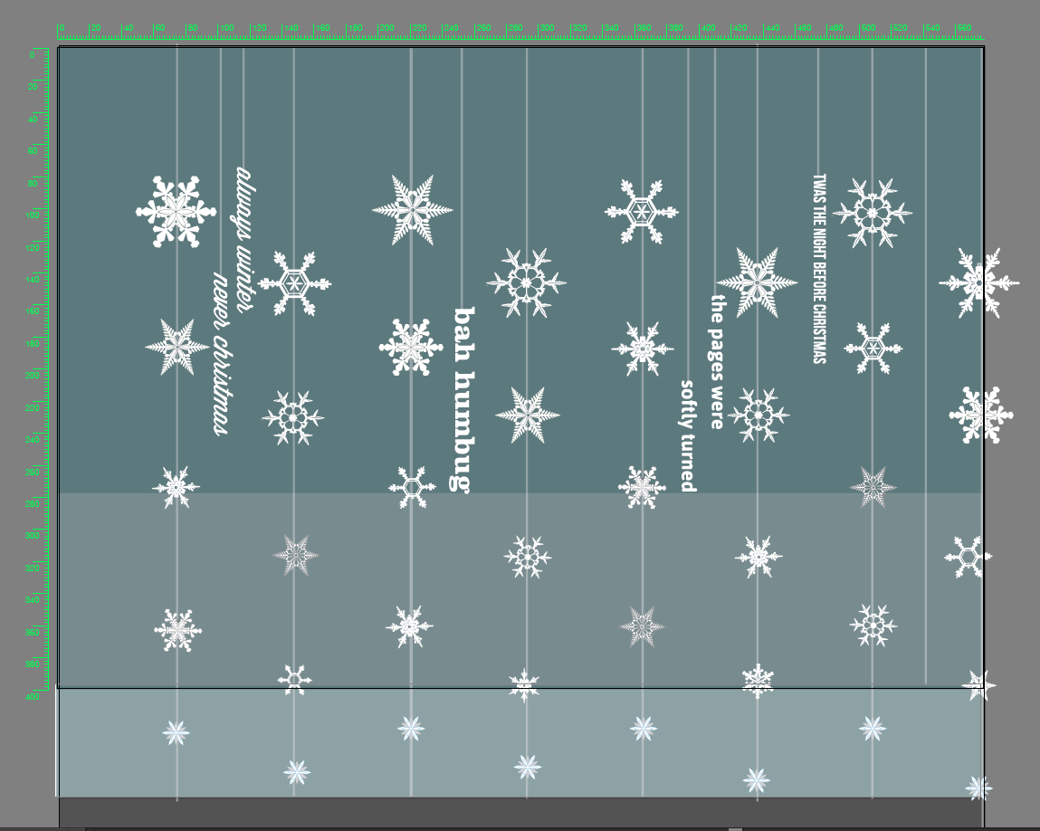 Installation plan for the paper snowflake mobile.
